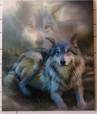 "Wolf Montage - 3 x 4"" MAGNET"
