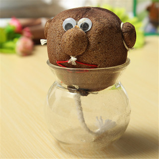 Mini DIY Magic Grass Plant Pot Grass Head Doll Kids Education Toy Christmas Gift Craft