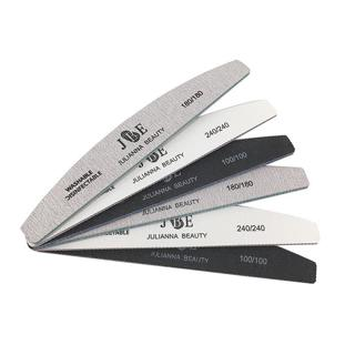 6pcs/ pack 100/180/240 Grit Nail Files Washable Double-Side Emery Board Nail Buffering Files Salon