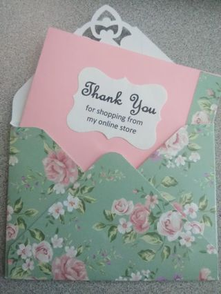 """Thank You"" Card & Matching Envelope"