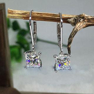✿Fast & Free Shipping✿ Elegant 925 Silver Jewelry Drop Earring x1Pair