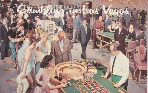 Vintage Used Postcard: 1963 Greetings from Las Vegas, NV