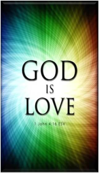 "Christian ""God is Love"" Refrigerator Magnet"