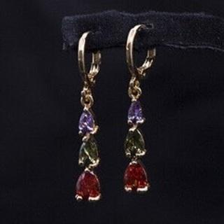 Beautiful Gold, Zirconia Earrings