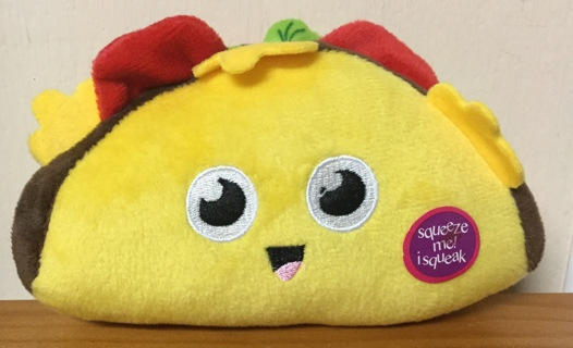 Taco Plush Dog Toy(new with tag)