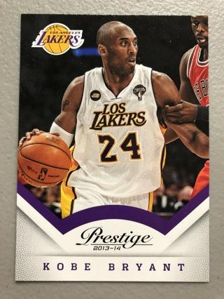 2013-14 Kobe Bryant Panini Prestige Card