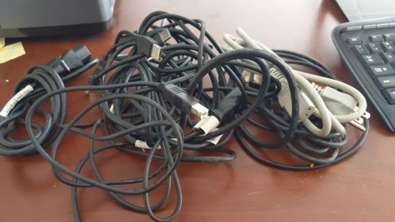 Huge lot of computer cables