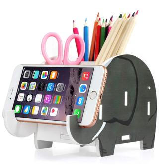 DISCOUNT!! Desk Supplies Organizer,Roiroiko Wooden Cute Elephant Pencil Pen Holder