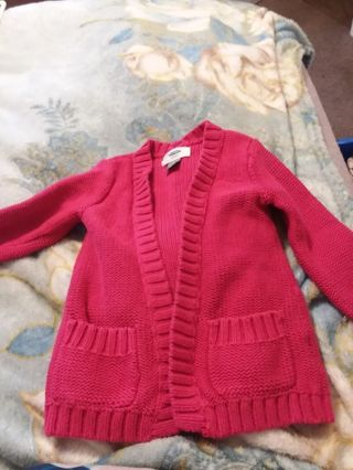 Baby girl sweater jacket size 12-18m old navy