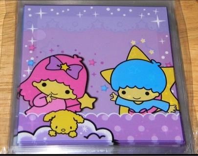 Twin Stars self adhesive Kawaii baggies