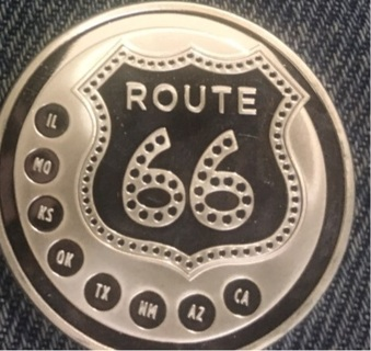 Route 66 One Troy Ounce .999 Fine Silver Get Your Kicks on Route 66