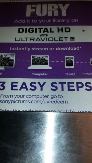 Fury ultraviolet Digital HD code