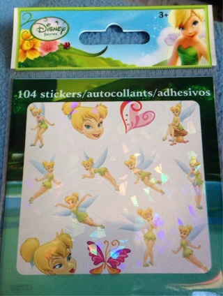 Tinkerbell foil like stickers