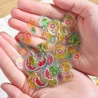 100 pcs/pack Mini Transparent 3D PVC Crystal Candy Stickers Creative Animal Dolphin Fruit Cat Deco