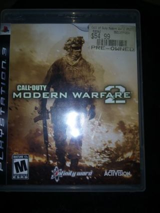 (2) PS3 Games Call of Duty Modern Warfare 2, and The Last of Us