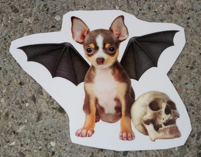 HALLOWEEN DOG WINDOW CLINGS