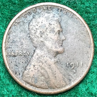KEY DATE!!  1911-S  Lincoln wheat Cent