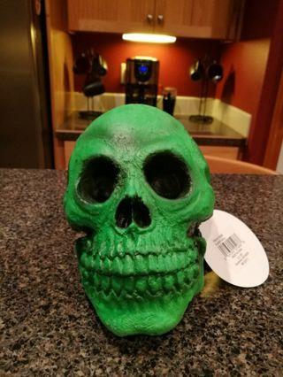 NEW Rubber Skull GREEN