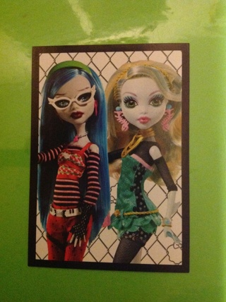 Monster High PANINI Stickers #163 for the 2012 fearbook