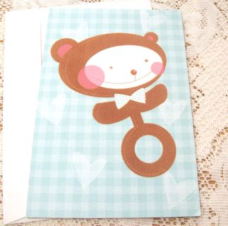 Cute Baby Congratulations Card and Envelope