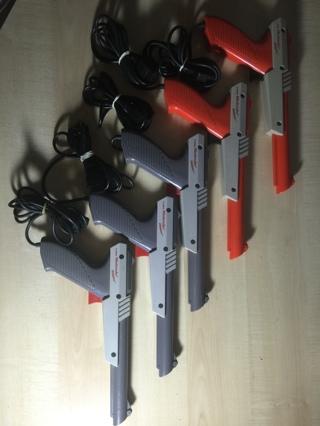 Nine Original First Party Nintendo NES Zapper Guns