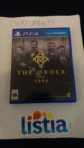 Free: The Order 1886 - (PS4)PlayStation 4 Game & New Super Mario