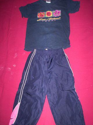 Free: Alstyle Apparel Navy T-Shirt & Reebok Navy Pink/White Trim