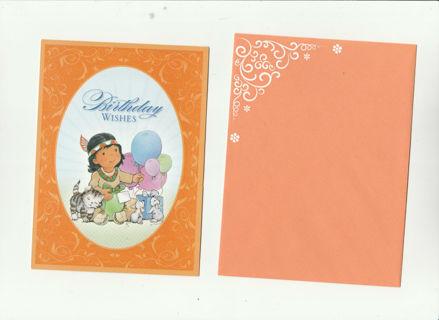 Cute Birthday Card Unused With Envelope