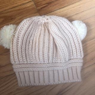 Children's Dual Pom Pom Hat.