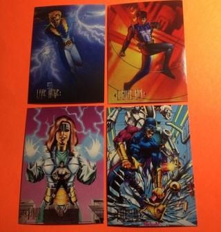 4 DC Comics 1994 Skybox Cards!