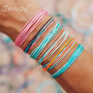 6 Pcs/set Bohemian Colorful Rope Chain Bracelet New Fashion Women Multicolor Leather Bracelets Set