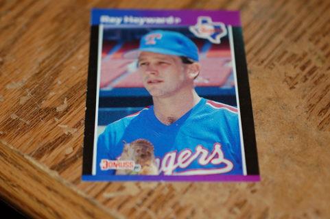 One Ray Hayward Texas Ranger Baseball Card