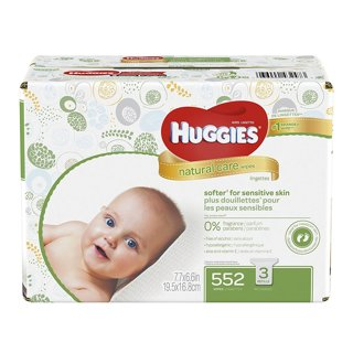 ♥️~ HUGGIES Natural Care Baby Wipes, Pack of 3 Refill Packs (552 Sheets Total) ~♥️