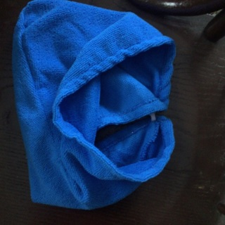 Cloth shower hair wrap for head