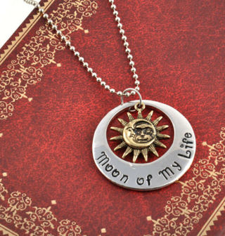 Game of Moon of My Life My Sun and Stars Khal & Khaleesi Thrones Necklace