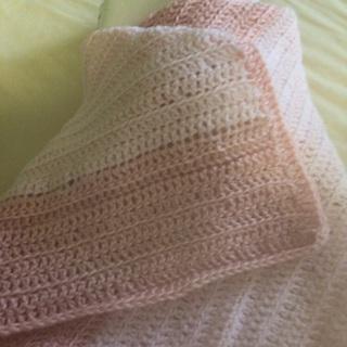 Crochet baby blanket .
