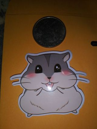 Hamster vinyl lab top sticker adorable lowest gins! No refunds! No lower new stuff