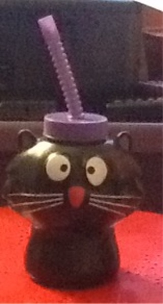 black cat sippy cup