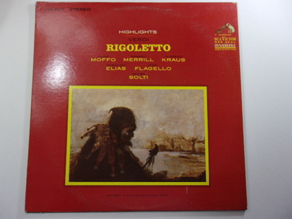 Verdi Highlights From Rigoletto – RCA Victor LSC 2837 LP Exc