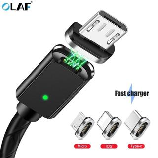 OLAF Micro USB Charging Cable Magnetic Adapter Charger For iPhone Android Huawei