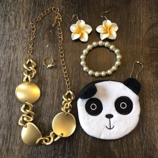 New Stuffed Panda Coin Purse