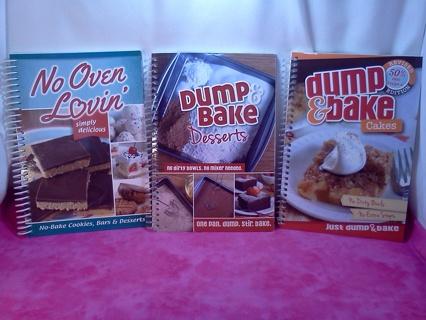 * 3 Dessert Cookbooks *