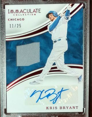 KRIS BRYANT * GAME WORN JERSEY WITH AUTOGRAPH #11 OF 25