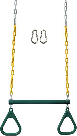 Chain Swing Set Accessories & Locking Carabiners (Green)