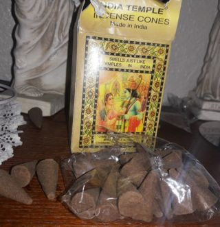 India Temple incense Cones free shipping (( BRAND NEW))