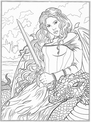 ❄(New) 5 Adult Gothic Halloween Coloring Sheets #1 ❄