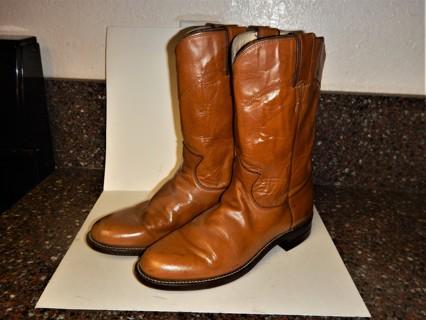Women's Justin Western Roper Boots Tan Size 7 B - FREE SHIPPING