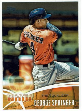 George Springer The Future Is Now Insert 2014 Topps Houston Astros