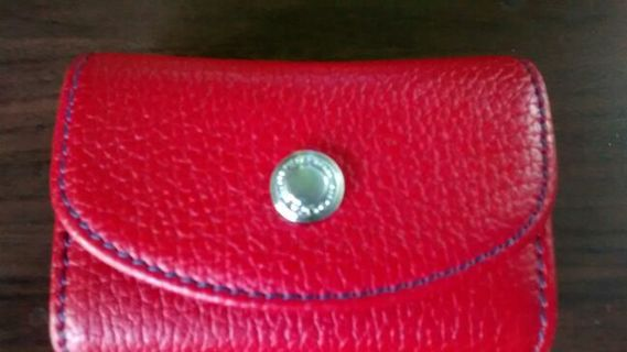 Authentic Coach Lipstick Compact With Mirror Red Leather NICE