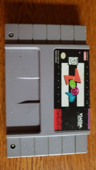 "Super Nintendo Game ""Rare"" Zoop"